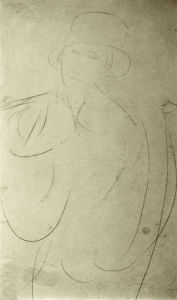 Woman with Hat or Portrait of a Woman by Amedeo Modigliani