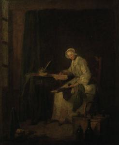 The Ledger by Jean Baptiste Chardin