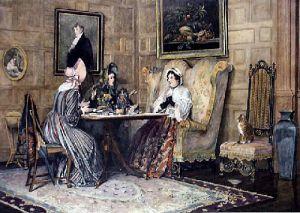 Scandal & Tea (Restrike Etching) by Walter Dendy Sadler