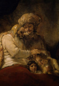 Jacob's Blessing by Rembrandt