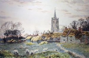 Church Meadow (Restrike Etching) by Frederick Albert Slocombe