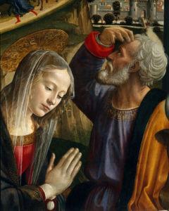 Adoration of the Shepherds (detail I) by Domenico Bigordi Ghirlandaio