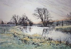 Kennet near Chilton Foliat (Restrike Etching) by Frederick Albert Slocombe