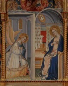 Annunciation Triptych by Giovanni del Biondo