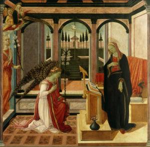 Annunciation to Mary by Filippino Lippi