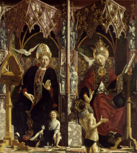 Saint Augustine & Saint Gregory by Michael Pacher