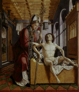 St.Augustine frees a prisoner by Michael Pacher