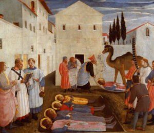 Burial of Saints Cosmas and Damian by Attributed to Fra Angelico