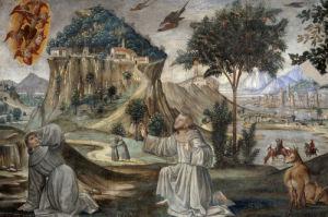 Stigmatisation of Saint Francis by Domenico Bigordi Ghirlandaio