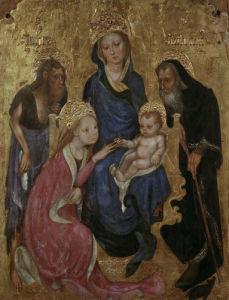 The mystical wedding of Saint Catherine of Alexandria by Michelino da Besozzo