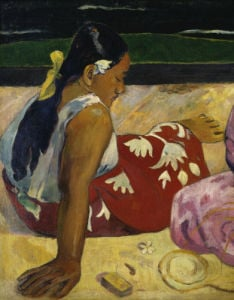 Women of Tahiti, On the Beach, 1891 (Detail) by Paul Gauguin
