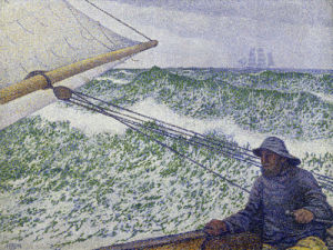 The man at the helm by Theodore van Rysselberghe