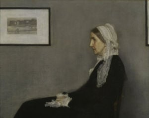 Portrait of the Artist's Mother, 1871 (Detail) by James McNeil Whistler