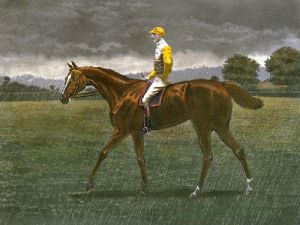 Sanfoin In The Rain (Restrike Etching) by Harrington Bird