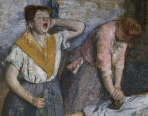 The Laundresses (detail) by Edgar Degas