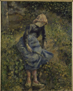 Peasant girl by Camille Pissarro