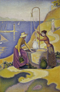 Women at the well, opus 238 by Paul Signac