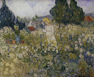 Marguerite Gachet in her garden by Vincent Van Gogh
