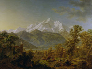 Mount Blanc as seen from Sallenches by Pierre-Louis de La Rive