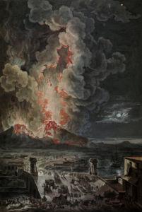 Vesuvius errupting by Anonymous