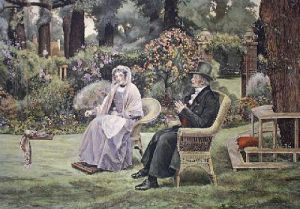In Memory's Garden (Restrike Etching) by Walter Dendy Sadler