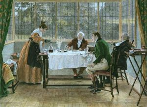 Old And The Young, The (Restrike Etching) by Walter Dendy Sadler