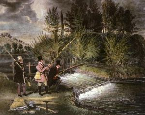 Trolling For Pike (Restrike Etching) by James Pollard
