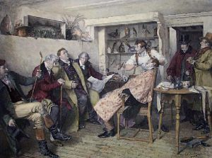 Morning Gossip (Restrike Etching) by Walter Dendy Sadler