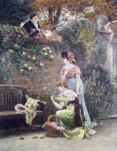 Garden Wall (Restrike Etching) by Arthur Vernon