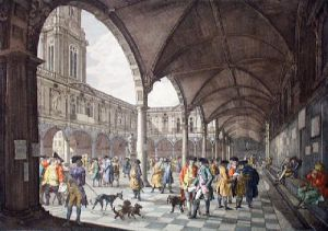 Royal Exchange (Interior) (Restrike Etching) by Chapman & Lutherburgh