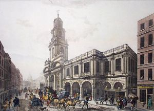 Royal Exchange (Restrike Etching) by Chapman & Lutherburgh
