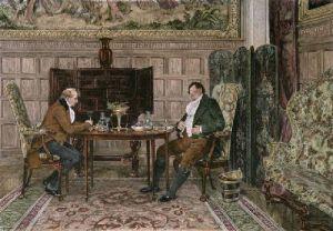 When We Were Boys Together (Restrike Etching) by Walter Dendy Sadler