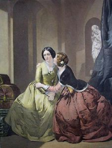Sympathy (two ladies) (Restrike Etching) by Marcus Stone