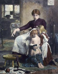 Children's Prayer (Restrike Etching) by Arthur Hacker