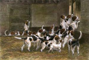 Ready for the Run (Restrike Etching) by Edmund Caldwell
