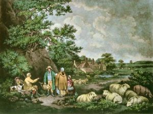 The Shepherds (Restrike Etching) by George Morland