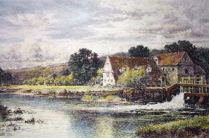 Streatley Mill (Restrike Etching) by Benjamin Williams Leader
