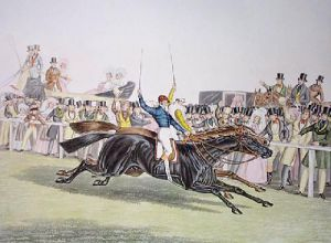 Charles X11 & Euclid St.Leger (Restrike Etching) by John Frederick Herring