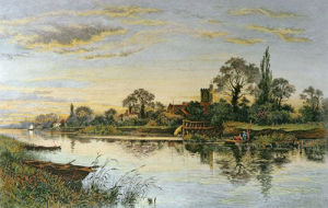 Shadows of Departing Day (Bray on Thames) (Restrike Etching) by Alex Anstead