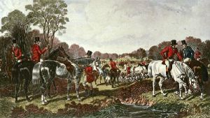 Fox Hunting - Plate 1 (Restrike Etching) by John Frederick Herring