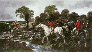 Fox Hunting - Plate 2 (Restrike Etching) by John Frederick Herring