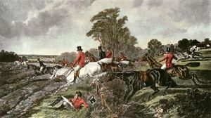 Fox Hunting - Plate 3 (Restrike Etching) by John Frederick Herring