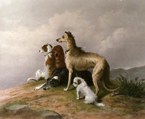 Highland Dogs (Restrike Etching) by Sir Edwin Henry Landseer