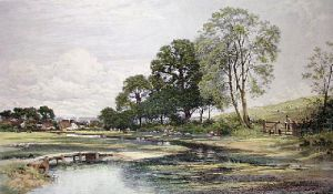 Springtime in Surrey (Restrike Etching) by Benjamin Williams Leader