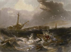 Grace Darling & her Father (Restrike Etching) by Parker-Carmic