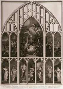 New College,Oxford (Window) (Restrike Etching) by Sir Joshua Reynolds
