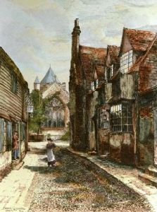 Rye (Restrike Etching) by Edward Slocombe