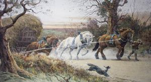 The Last Load (Restrike Etching) by Herbert Thomas Dicksee