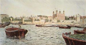 Tower of London (Restrike Etching) by David Cox