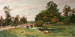 Iver Bridge (Restrike Etching) by Frederick Albert Slocombe